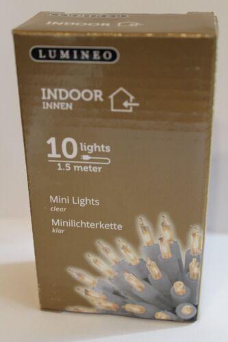 Lichterkette 10er klar transparentes kabel 1,5 meter lang