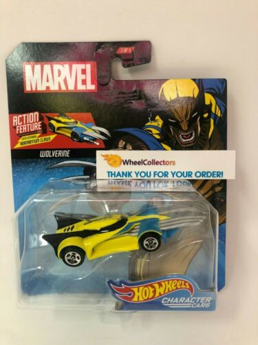 Wolverine w// Extending CLAWS 2019 Hot Wheels MARVEL Character Cars Case M