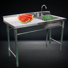 A Set Of Compartment Commercial Kitchen Sink Stainless Steel Restaurant Bar Sink