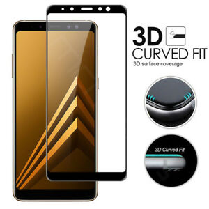 new concept 2a3f9 cbf83 Details about Samsung Galaxy A9/A6/A7/A8 Plus 2018 Full Cover Tempered  Glass Screen Protector