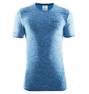 Funktionsshirt-CRAFT-Active-Comfort-Herren-kurze-Armel-Kompression-blau