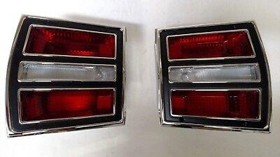 Pair 1967 1968 Ford Mustang Tail Light Brake Lamp Stop Lens 67 68 LH RH