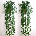 12pcs 8.2ft Home Decor Ivy Leaf Garland Green Plant Vine Foliage