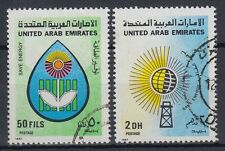 UAE 1986 fine used Mi.223/24 Energie Energy Sonne Sun Blume Flower [g1182]