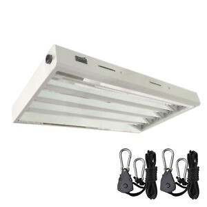 T5-Grow-Light-Kit-Hydroponics-2-ft-24-034-4x-24W-2-039-x-4-HO-Lamps-Veg-Bulbs-Included