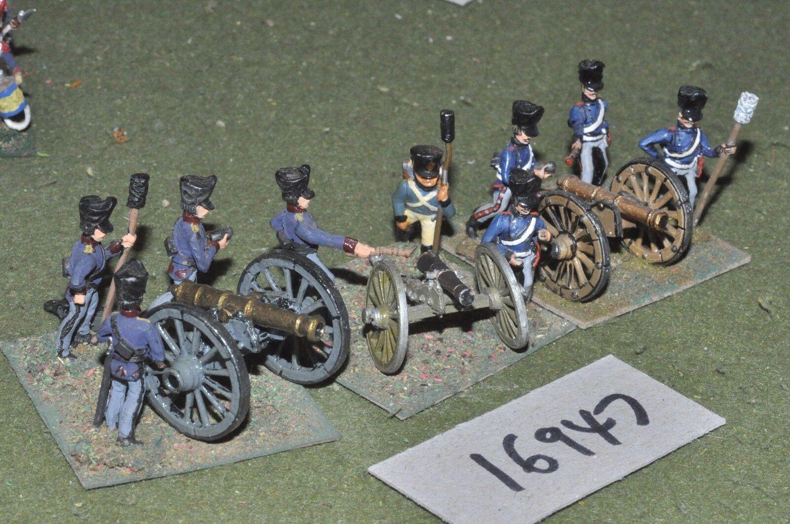 25mm 19th century   franco prussian - artillery 3 guns & crews - art (16947)