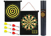 Dart Board Darts Magnetic Roll Up Design Double Sided Gift Game Pub Home Party
