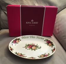 NEW IN BOX Royal Albert Old Country Roses Bless This Home Platter