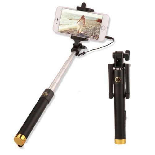 Erweiterbarer kabelgebundener Selfie-Stick-Telefonhalter mit Fernauslöser N P5K2