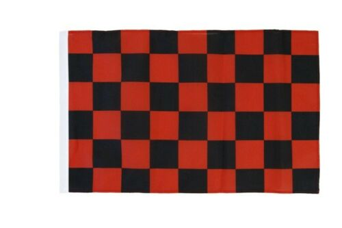 A Quadri Rosso-Nero Banner Rosso Nero Bandiere Bandiere 30x45cm