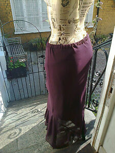 Vintage-MONSOON-Purple-Skirt-Size-XL-waistband-elastic-needs-replacing