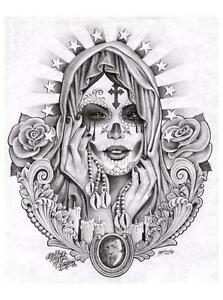 image is loading santa muerte by jamie mouse lopez fine tattoo