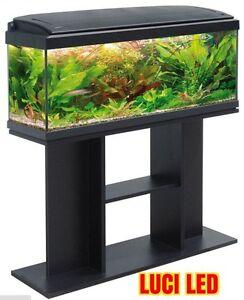 Acquario milo 100 completo impianto luci led supporto ebay for Acquario tartarughe completo