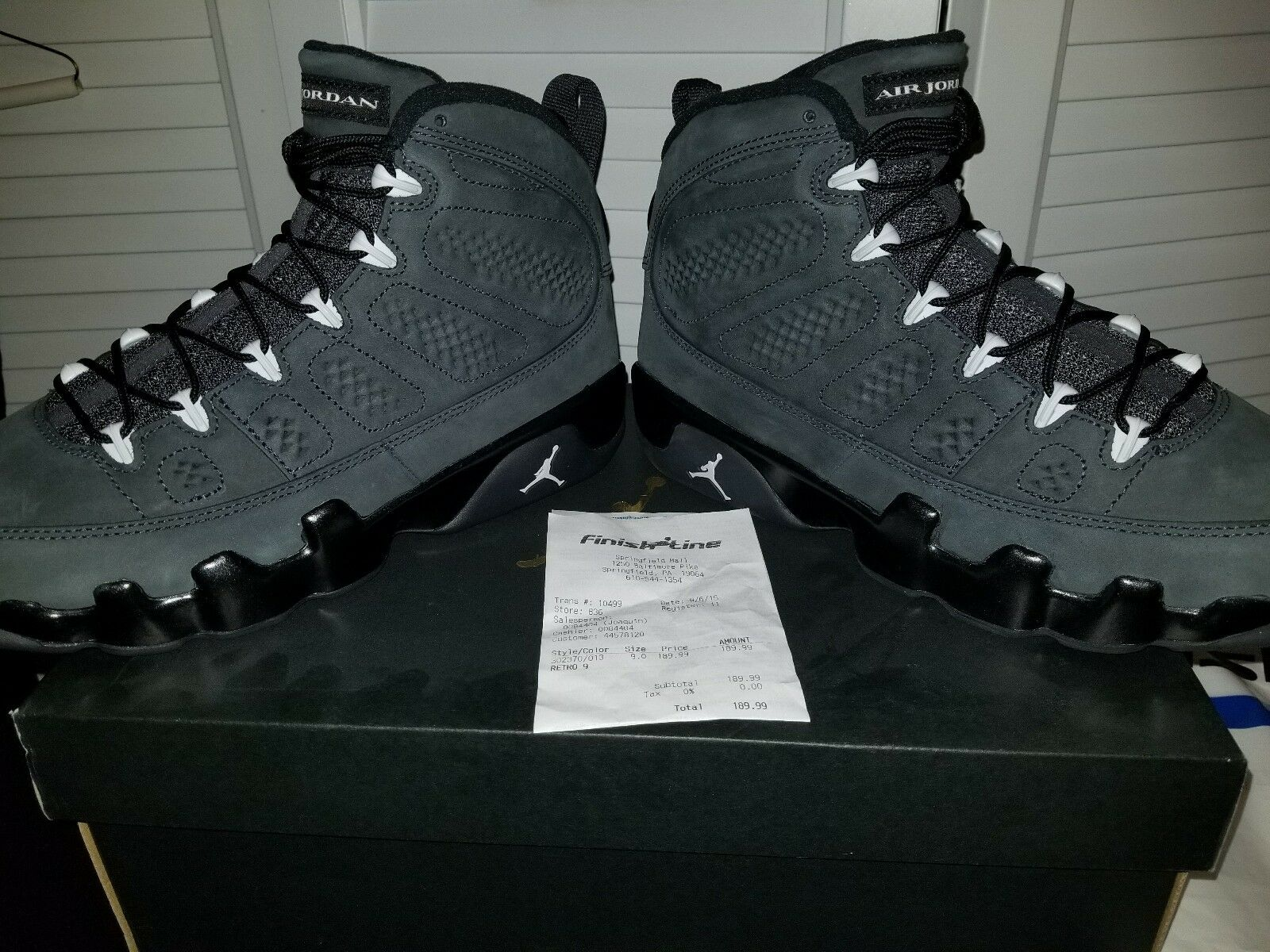 d699f5d87edc Nike Air Jordan 9 retro retro retro Anthracite White-Black 117989 ...