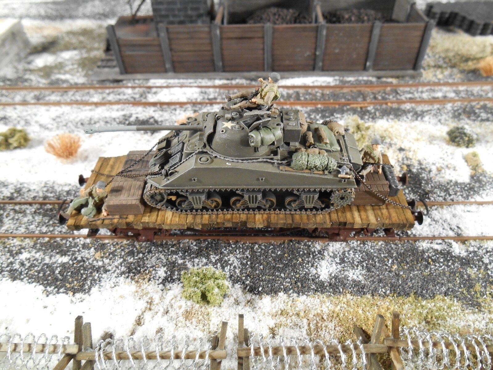 Ho Roco Minitank Patton's 3° Esercito Carro Armato Sherman Ferrovia Auto  A486