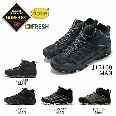 merrell moab fst mid gore-tex walking shoes pack