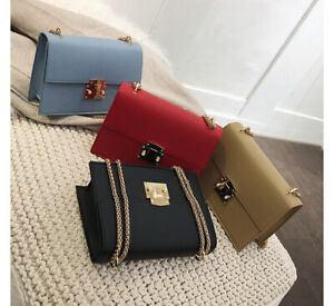 Small-Mini-Faux-Leather-Single-Shoulder-Bag-Crossbody-Chain-Purse-Cute-Satchel