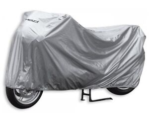 Motorcycle-Cover-Folding-Garage-Sz-L-Silver-Waterproof-NEW