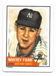 Details About Whitey Ford 1990 Hamilton Collection Porcelain Card 1952 Topps Hof M38