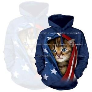 Kitten-Cat-Flag-The-Mountain-Hand-Dyed-Tie-Dye-Hoodie-Sweatshirt-XLarge-SALE