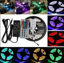5M SMD RGB 5050 Waterproof Strip Rope Light 300 LED 44 Key IR Remote Connector