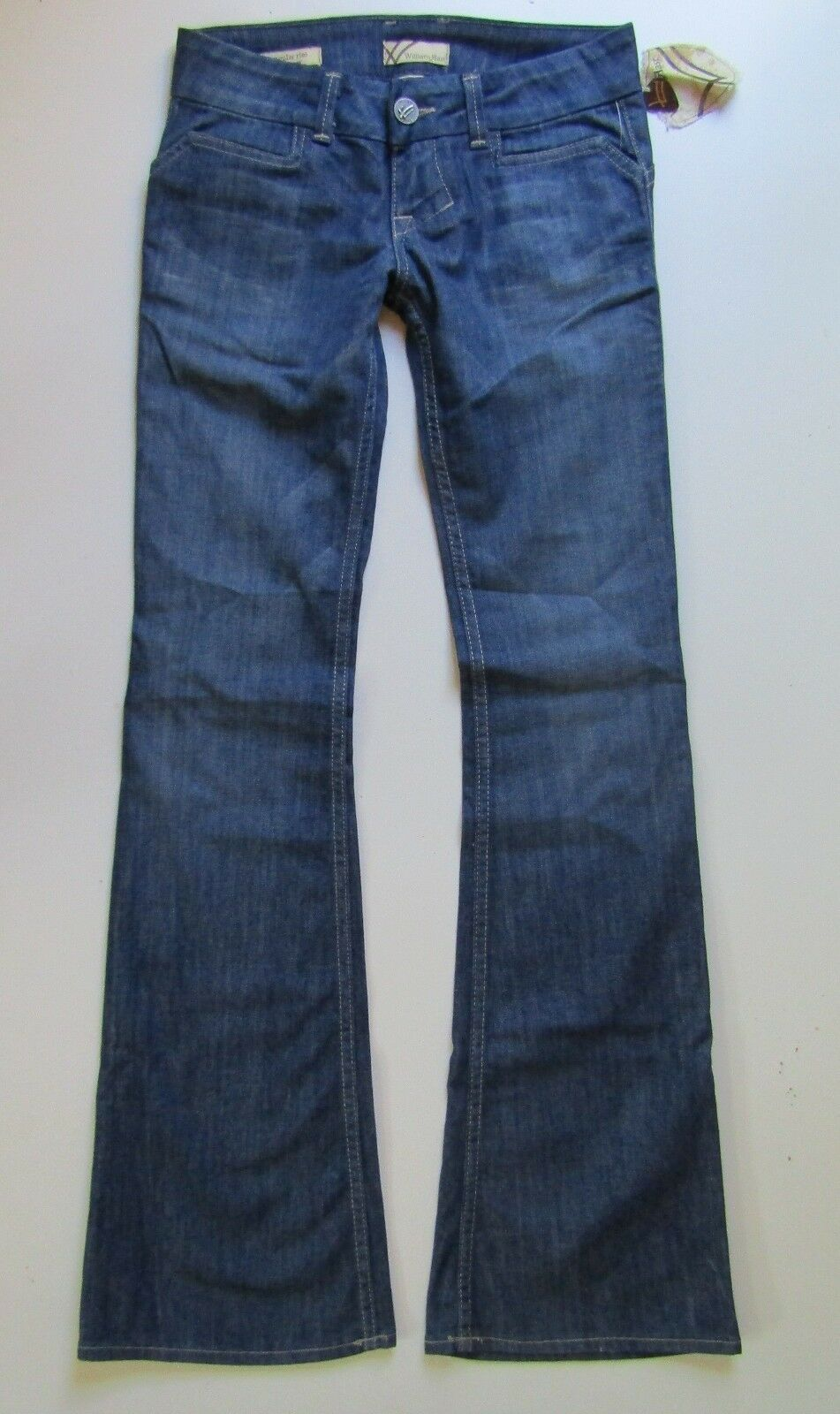 NWT William Rast Savoy Trouser Low Rise Flare Jean in Tranzanite - Size 24 x 34