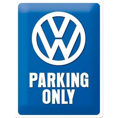 VW Parking Only Volkswagen Car Old Camper Classic Large 3D Metal Embossed Sign