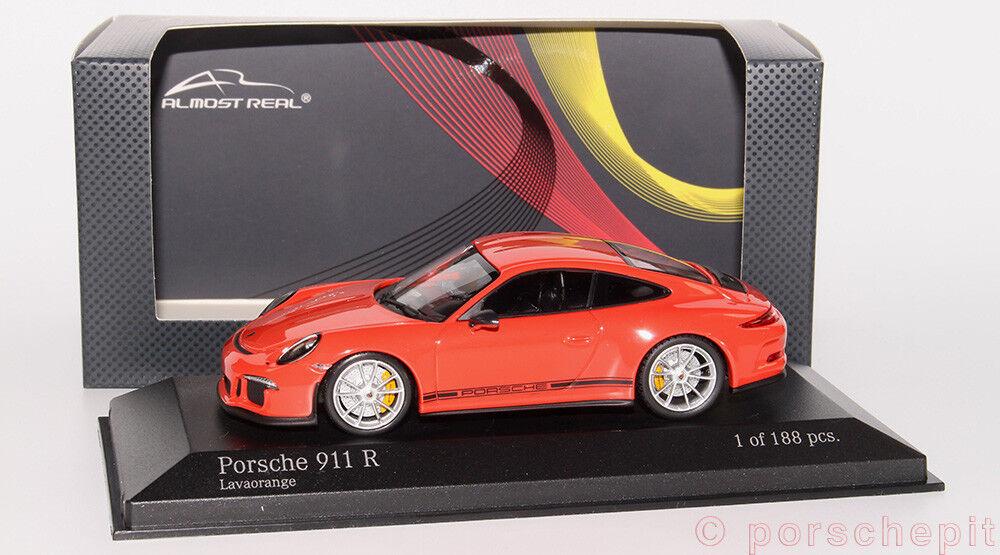 Porsche  991 911r lavaOrange Almost Real 1 43 RARE  jusqu'à 42% de réduction