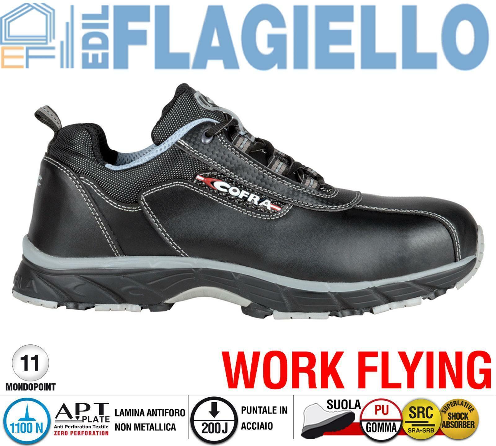 Scarpa da Lavoro Antinfortunistica Cofra NEW DRAGON S3 SRC taglie 39 - 47 | Prese tedesche  | Uomini/Donne Scarpa