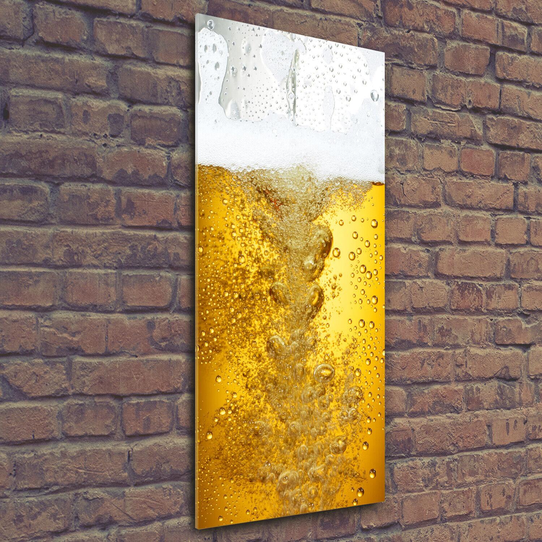 Wandbild Druck auf Plexiglas® Acryl Hochformat 50x125 Bier