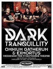 DARK TRANQUILLITY / OMNIUM GATHERUM / EXMORTUS 2014 PORTLAND CONCERT TOUR POSTER