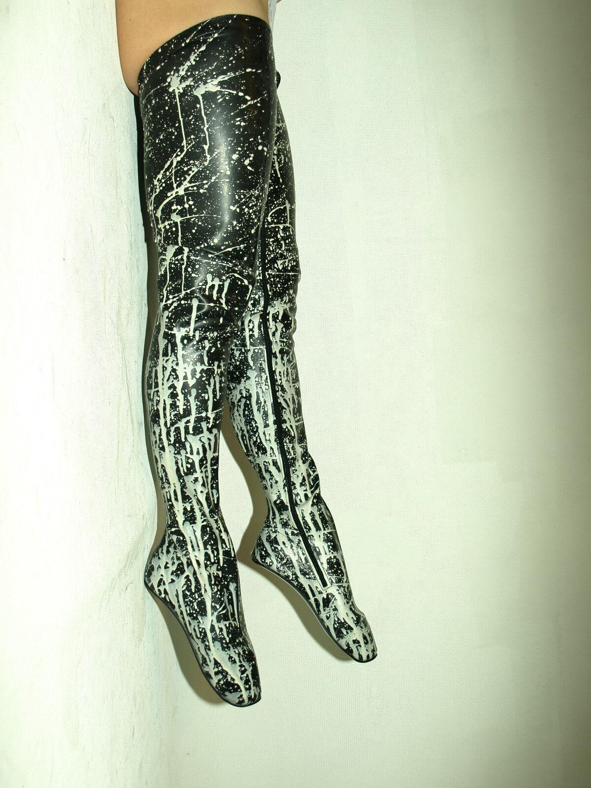 Latex gummi stiefel Stiefel Größe 37-47 absatz 0cm fs1210