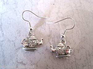 TIME-FOR-TEA-TEAPOT-CUP-Earrings-Pot-Alice-in-Wonderland-PARTY-Gift-MAD-Hatter