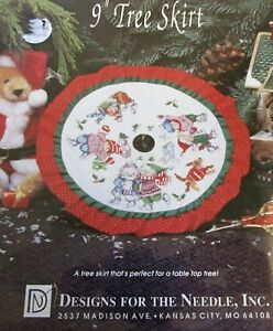 Table-Top-Christmas-Tree-Skirt-9-Inch-Counted-Cross-Stitch-Christmas-Tradition
