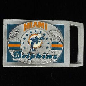 Delfines-de-Miami-Florida-NFL-Equipo-Oficial-Futbol-Abanico-1993-Vintage-Hebilla
