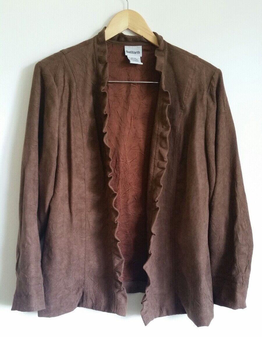 BonWorth brown jacket M 14 Suede effect <S3195z