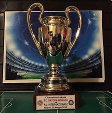 """INTER FC MINIATURA """"CHAMPIONS LEAGUE"""" IN RESINA GALVANICA ORO/ARGENTO"""
