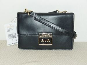 9cccbfe7bfb1 Image is loading NWT-Michael-Kors-Sloan-Small-Gusset-Crossbody-Leather-