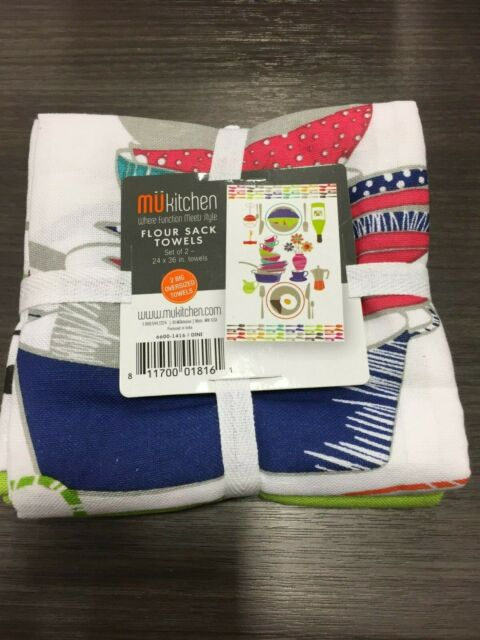 MUkitchen Multicolor Cotton Dish Towel 2 pk Model 6600-1416