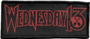 Official-Licensed-Merch-Woven-Sew-on-PATCH-Heavy-Metal-Rock-WEDNESDAY-13-Logo