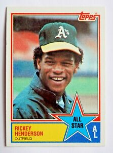Rickey Henderson 1983 Topps #391 Baseball Card (Oakland Athletics) LN