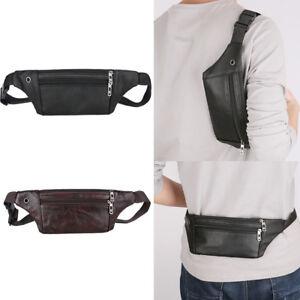 Men-Cycling-Chest-Bag-Genuine-Leather-Waist-Belt-Pack-Phone-Purse-Pouch-Shoulder