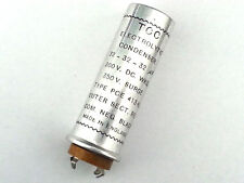 TCC Vintage 32 - 32 - 32uF Capacitor 300vdc Wkg - UK Made - Tested - NOS - 1pce