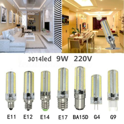 G4//G9//E11//E12//E17//BA15D 9W 3014 LED Stiftsockel 152 SMD Glühbirne Lampe