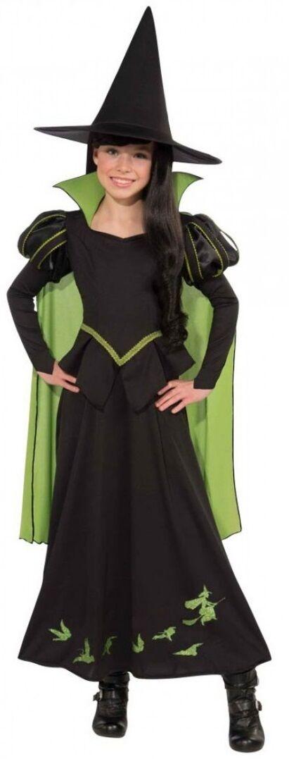Mädchen Mädchen Mädchen Wizard Of oz Böse Hexe Halloween Büchertag Kostüm Kleid Outfit 64a364