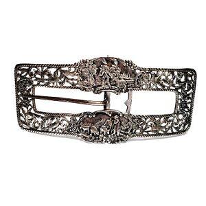 Vintage Shreve Crump & Low Sterling Silver Large Belt Buckle #6623