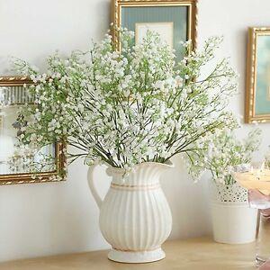 12-Bebe-Aliento-plantacion-artificial-flores-de-seda-Jarron-Decoracion-Hogar-ramo-falso