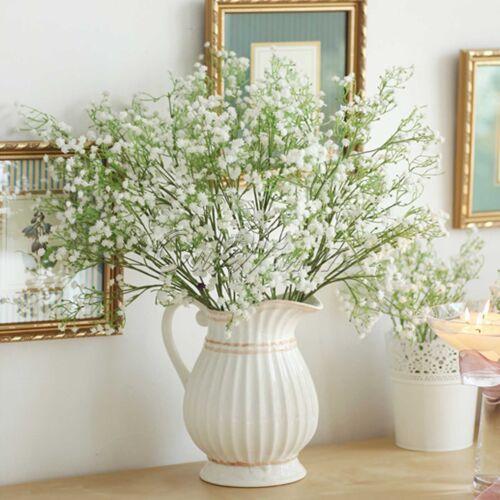 12× Artificial Flower Gypsophila Baby/'s Breath Fake Floral Party Wedding Bouquet