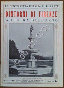 Le-cento-citta-d-039-Italia-illustrate-n-182-Dintorni-di-Firenze-destra-Arno