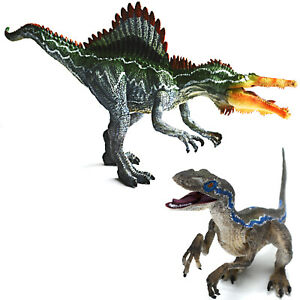 Jurasic Velociraptor Raptor Allosaurus Dinosaurs Toy Model Kids Christmas Gift